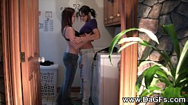 Lesbian Strap-on Fucking & Squirting