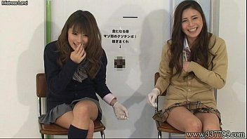 Japanese femdom give handjob and cunnilingus to slave for cash. 4 min