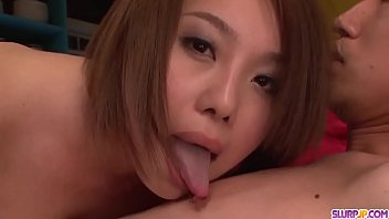 Yurika Momo gives head in extra sloppy modes - More at Slurpjp.com