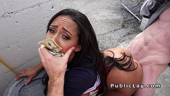 Watch video sex new Cash hungry mixed race babe in public Mp4