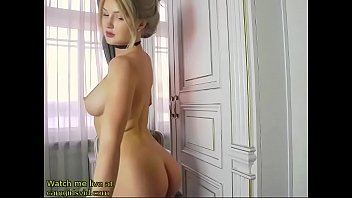 Hottest blonde model shows her sexy body