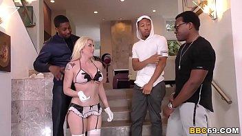 Anal Slut Leya Falcon Gets Gangbanged by Black Cocks