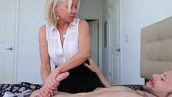 Cute Milf Loves Stroking Cocks