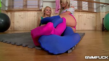 Workout sex is best with sexy toes deep inside pussies say Ivana Sugar & Cherry Kiss