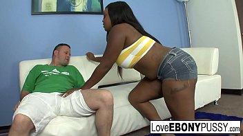 Ebony slut gets fucked hard