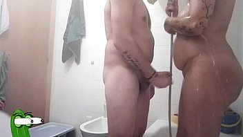 Soap and cock from behind for this prostitute