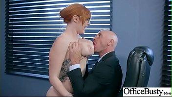 Hard Sex With Big Round Juggs Office Girl (Lauren Phillips) vid-13