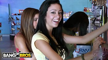 BANGBROS - Hot Lesbian Babes Buy Dildos And Vibrators At Sex Shop Then Fool Around