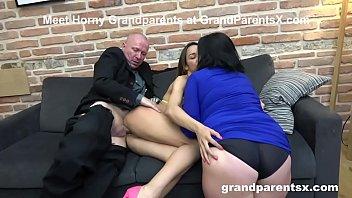 Senior Citizens Invite Hot Dancer to Fuck