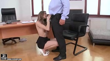 Hardcore fuck with  Rebel Lynn in the office