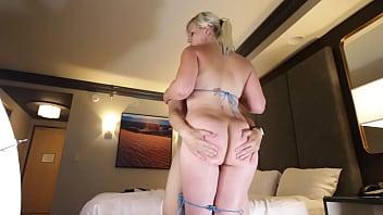 Sexy blonde, Shay Golden, doing intercrural thighjobs