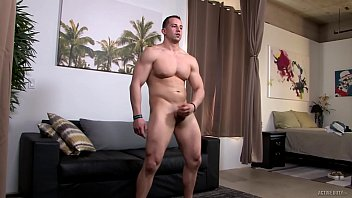 Military Muscle Hunk's Jerk Off Tryout
