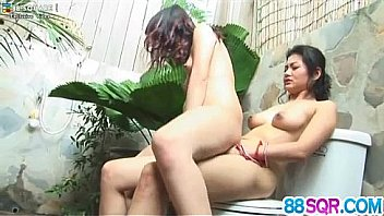 Two lesbian Asian babes Mind and Mona having a little sex pa