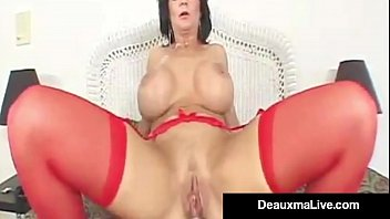 Sexy Mature Milf Deauxma gets her hot Anal Canal Rammed by a Big Dick that makes her moan with pleasure & Cums herself at the Hot CreamPie Finale! Full Video & Deauxma Live @ DeauxmaLive.com!