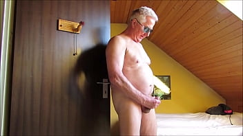 72 years grandpa cumshot compilation