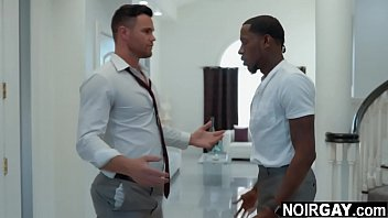 Black man having first time gay sex as payback for cheating wife - interracial gay sex