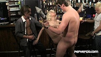 Group sex in a bar