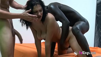 Teen wants her first interracial threesome