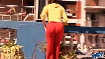 Busty Brunette Teen Showing Off. Boobs, Cameltoe & Ass!