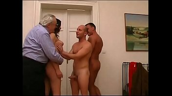 Hot young latina amateur well banged by two guys