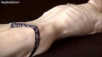 Skinny Fitness Model Poses Topless