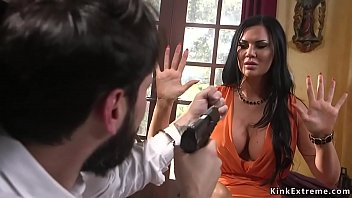 Robber Tommy Pistol breaks in house of huge tits Milf Jasmine Jae and then in rope bondage anal fucks her with big dick while vibrates her clit
