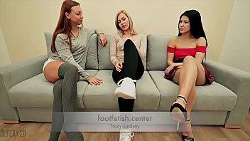 Forced Foot Worship - Tracy Lindsay - Humiliation Domination Lezdom Lesbian Feet