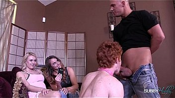 Group strapon embarrassment domination cuckold