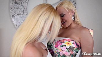 Top-heavy lesbo babes Kyra Hot & Dolly Fox finger those tasty pinks until they cum