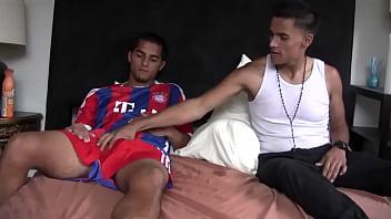 soccer player gets ass eaten and hot bj