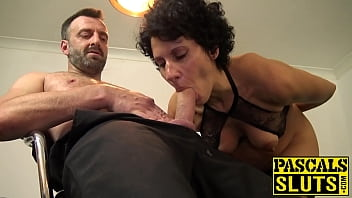 Mature subslut riding vigorously rough