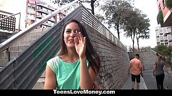 Teens Love Money - Hot Latina Waitress (CarolinaAbril) Gives Extra Service For Cash