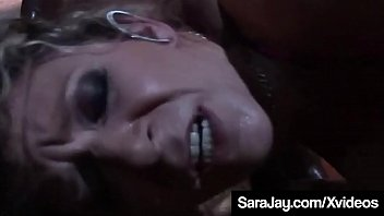Wrecked Milf Sara Jay found some shelter from the Zombies but gets a masked big black cock warrior plowing her pink pussy instead! Hot Crazy Interracial Fuck Clip! Full Video & Sara Live @ SaraJay.com!