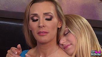Blonde bombshells steamy lovemaking
