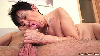 Cockhungry grandma fucked hard