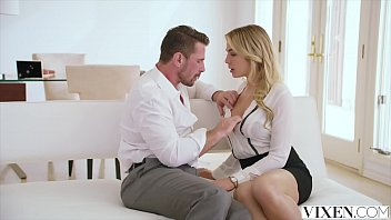 Blonde babe fucked by elegant man