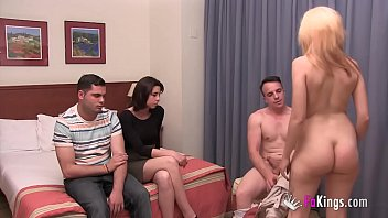 Their first swinger experience with only 18yo