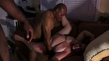 Sexy Whore wife Fucking two BBCs late at night