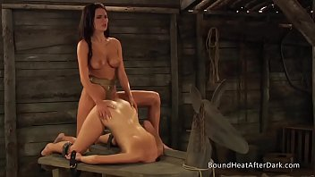 Young Lesbian Slave With Big Ass Takes Big Strapon Deep Inside And Orgasms Hard