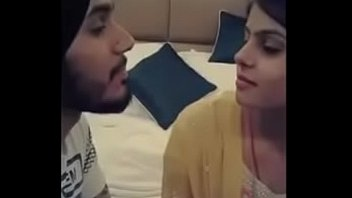 Punjabi boy kissing girlfriend