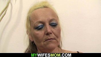 Old blonde in law photosession and sex