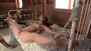 Cowboy James Deen dominates and fucks deep throat to ranchers stepdaughter Rose Red then anal fucks her with big cock till gives her facial cumshot