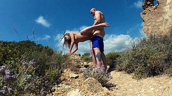 Great Amateur Horny Teen Russian Couple Fucking outdoor. Mallorca
