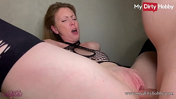 MyDirtyHobby - German amateur secretary with big tits gets a dildo in her ass and her boss cock in her pussy before getting it sprayed with cum