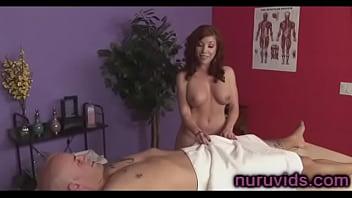 Gorgeous busty masseuse