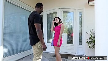 Teen Kendra Spade loves sucking black cock and gets her pussy fucked