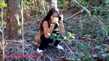 HD thai teen flasting tits in the public