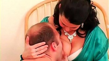 Woman Breastfeeds Adult Wearing Diaper And Penetrates His
