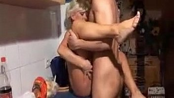 German milf gives head to paramedic
