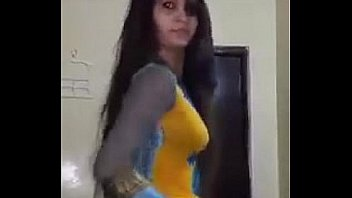Indian girl dances in bathroom